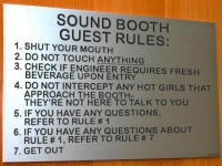 dj sound booth rules